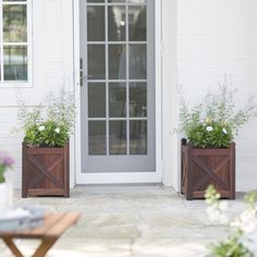 Belham Living Richmond Shorea Square Planter - Sturdy with stylish details, the Coral Coast Richmond Shorea Square Planter is the perfect planter for your maturing trees or flowering plants. Constr...