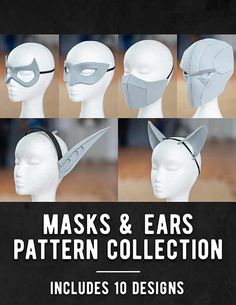 Foam Masks & Ears Pattern Collection - DOWNLOAD|PDF - KamuiCosplay