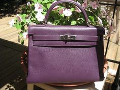 Please post any photos of Hermes bags in the related color family as titled. Please indicate the color name and leather in which you are posting. Purple Pink Color, Kelly Bag, Hermes Bags, Color Names, Family Pictures, Hermes Kelly, Purses And Handbags, Lace, Leather