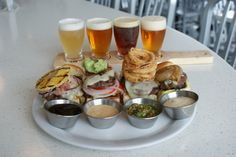 mini-burger and craft beer pairing