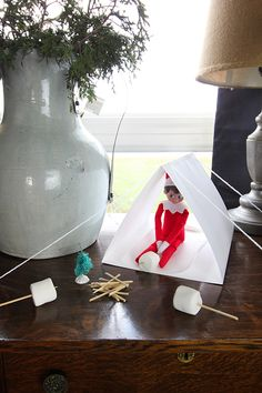 Card Stock Elf on the Shelf Ideas – The Creek Line House Elf Ideas Easy, Awesome Elf On The Shelf Ideas, Elf On The Shelf Ideas For Toddlers, Elf Christmas Decorations, Holiday Crafts, Holiday Fun, Christmas Elf, All Things Christmas, Christmas Carol