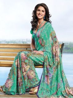 Green Color Designer Silk Saree