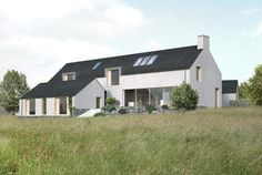New Family house overlooking the sea. Planning received May 2015 Farmhouse Architecture, Modern Architecture, House Designs Ireland, Grant House, Long House, Rural House, Dream House Plans, House Roof, Types Of Houses
