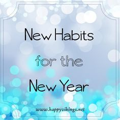 New Habits for the New Year