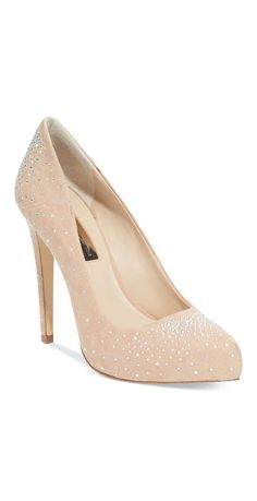 Sparkle Nude Pumps | #sponsored