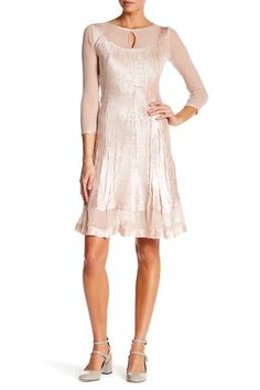 Loves it! Thinking of summer wedding. Not too white right?? Don't want to upset bride Nordstrom rack, info: Image of KOMAROV Keyhole 3/4 Length Sleeve Dress