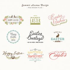 SALE  Easter Overlay design elements - for personal or photography use - INSTANT DOWNLOAD