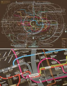 This is one transmit map that you'd likely be more than happy to frame and hang on your wall. Seoul graphic designers Zero Per Zero create colorful abstract compositions of the metro systems in Tokyo, Osaka, New York City and other cities around the world.