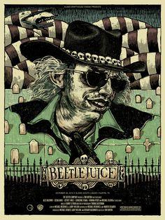 Beetlejuice movie art by Alamo Drafthouse.