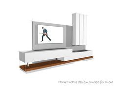 Slick TV media centre concept will be custom sized to suit.