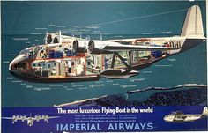 Imperial Airways / flying boat 28 cutaway