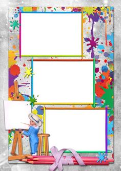 Tipss und Vorlagen: Frame and Coloring Page for kids Poster Background Design, Powerpoint Background Design, Kids Background, Boarder Designs, Page Borders Design, Framed Wallpaper, Wallpaper Backgrounds, School Border, Boarders And Frames
