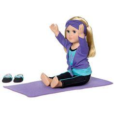 """My Life As Yoga Instructor 18"""" Doll, Blonde - Walmart.com"""