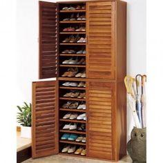 Rak Sepatu 4 Pintu | Lemari rak sepatu merupakan salah stau produk furniture terbaru yang menggunakan desain mirip lemari pakaian tapi lebih elegan