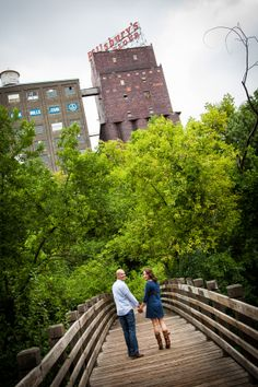 Ashley and Dustin's Engagement Session at the Stone Arch Bridge in Downtown Minneapolis | George Hausler Photography