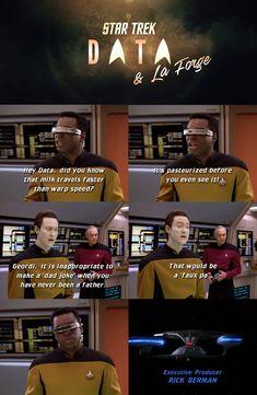 Star Trek Meme, Star Trek Data, Star Wars, Star Trek Tos, Star Trek Tattoo, Nerd Humor, Nerd Memes, Funny Memes, Funny Pics
