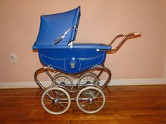 Vintage Bilt Rite Blue Doll Carriage