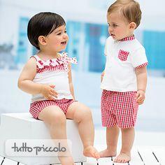 Look de la semaine  Des pyjamas bien frais qui combinent le vichy avec les fleurs liberty. Pour le garçon et pour la fille.  http://www.tuttopiccolo.com/france/
