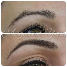 Eyebrow Hairstroke Make Up In 2019 Eyebrows Brows – Images Gallery Permanent Makeup Eyebrows, Eyebrow Makeup, Eyebrow Tattoo, Hair Beauty, Make Up, Arches, Hair Styles, Envy, Image