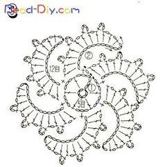 Best 12 – Page 353321533259255840 - Her Crochet Crochet Motif Patterns, Crochet Diagram, Crochet Chart, Crochet Squares, Love Crochet, Irish Crochet, Crochet Designs, Crochet Snowflakes, Crochet Doilies