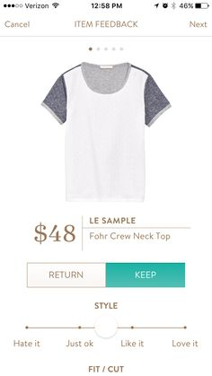 Le Sample Fohr Crew Neck. I love Stitch Fix! Personalized styling service and it's amazing!! Fill out a style profile with sizing and preferences. Then your very own stylist selects 5 pieces to send to you to try out at home. Keep what you love and return what you don't. Try it out using the link! #stitchfix @stitchfix. Stitchfix Spring 2016. Stitchfix Summer 2016. https://www.stitchfix.com/referral/5634870.