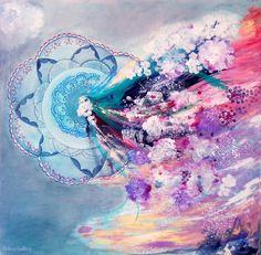 Inside – pictura pe panza #art #painting Maria Dermengiu