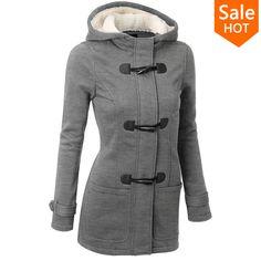 Зимняя Куртка Женщины С Капюшоном Зимнее Пальто Мода Осень Женщины Куртка Рог…