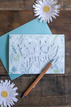 Thinking of you card by Lia Griffith. Receive exclusive Lia Griffith content to make amazing projects like this when you get a Cricut Explore Air at Michael's! #CricutEverywhere