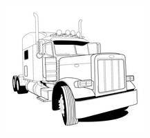 Peterbilt Linework By Animaldrummer81 Truck Coloring Pages Big Trucks Peterbilt