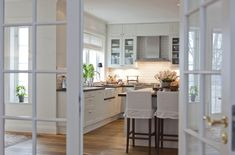 french doors in the kitchen