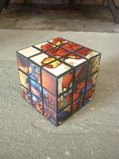 Super Heroes Rubiks Cube by DaintyBabe on Etsy, $10.00