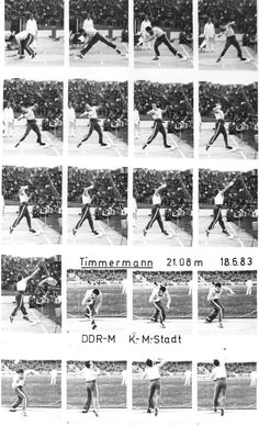 Ulf Timmermann Photo Sequence for Glide Discus Throw, Photo Sequence, Bear Shop, Shot Put, Motion Photography, Decathlon, Track And Field, Present Day, Athletes