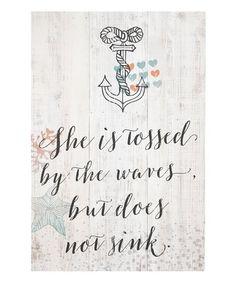 'Does Not Sink' Wall Art #zulily #zulilyfinds