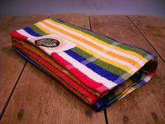 Vintage 1950s Striped Cannon Beach Towels / Original Tag by Rustology, 40.00