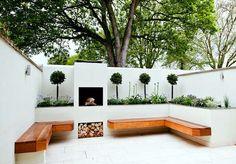 Patio designs, backyard seating, backyard landscaping, outdoor sectional, g Backyard Seating, Garden Seating, Outdoor Seating, Terrace Garden, Outdoor Sectional, Outdoor Decor, Modern Landscaping, Outdoor Landscaping, Landscaping Ideas