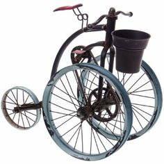 Our antique-style Bicycle Planter is sure to give any tabletop or centerpiece a dash of vintage style, and give you a perfect spot to display a happy houseplant!