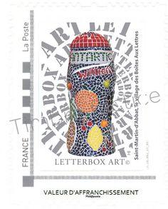 """Timbre LetterboxArt©: Boîte aux lettres """"Antartic"""" à Saint-Martin-d'Abbat."""