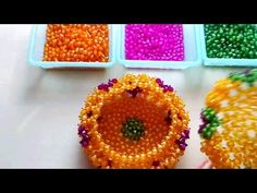 How to bead funny acceceroy: pumpkin box 1/5 - YouTube