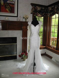 Chiffon mermaid wedding dresses gown with backless style md 3896 free