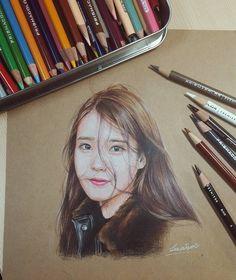 (깔창) - 97년생 prismacolor IU FANART 손틈새로 비치는 아이유참좋다 Colored Pencil Portrait, Color Pencil Art, Jimin Fanart, Kpop Fanart, Kpop Drawings, Art Drawings, Unique Drawings, Pastel Portraits, Art Station