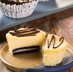 Mini Cheesecake de Chocolate Branco com Oreo
