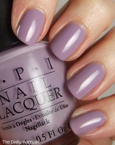 OPI Done Out in Deco 3 from The Daily Varnish.  DROID is a grayed medium purple.