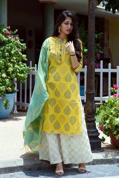 Yellow Paisley Suit Set