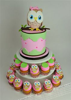 Owl first birthday cake photo by Design Cakes from Flickr at Lurvely