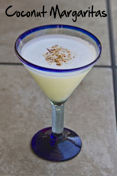Coconut Margaritas! What an incredible idea - talk about a blinding flash of the obvious - why didn't I think of that?