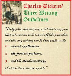 Charles Dickens on Writing