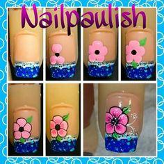 Ref Xmas Nails, Diy Nails, Nail Art Designs Videos, Nail Designs, Basic Nails, Kawaii Nails, Flower Nail Art, Nail Set, Nail Art Galleries