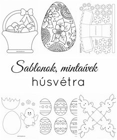 Templates for Easter crafts Felt Crafts, Easter Crafts, Activities For Dementia Patients, Easter Coloring Pages, Baby Quilt Patterns, Diy Easter Decorations, String Art, Easter Baskets, Diy Crafts To Sell