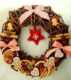 prírodná vianočná dekorácia vidiecky štýl - Hľadať Googlom