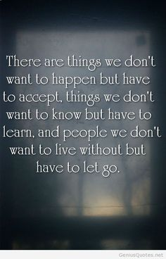 There are things we dont want to happen